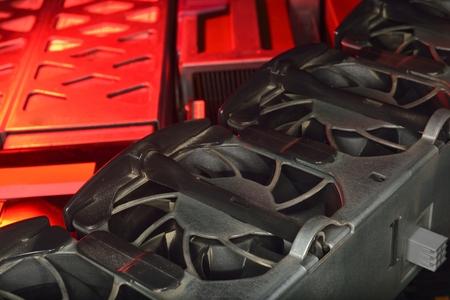 cooling: red hot server fan cooling industrial server