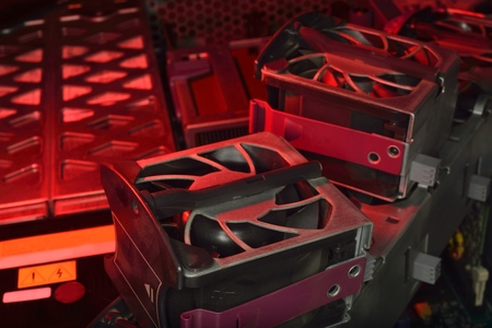 red hot server fan cooling industrial server
