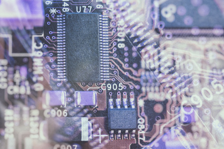 processors: violet abstract computer processors background