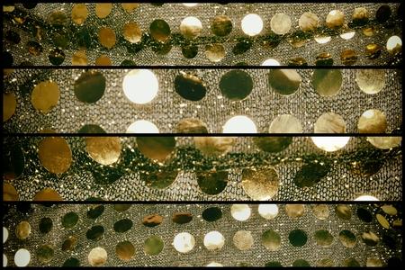 golden sequins on fabric (sewing costumes for dancing) Reklamní fotografie