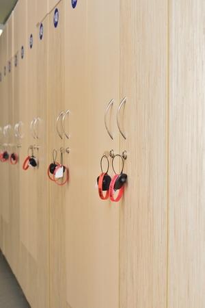 cloakroom in fitness center (boxes in the locker room) Reklamní fotografie