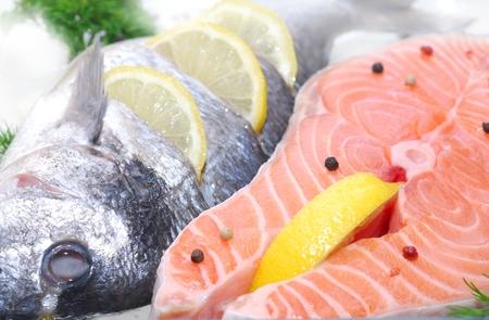 fillet salmon fish freezing Reklamní fotografie