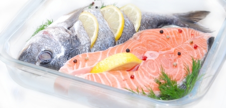 salmon fish defrosting before cooking