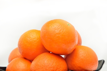 many fresh unrefined organic mandarin (tangerines) Reklamní fotografie