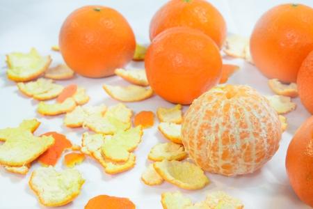 organic mandarin (tangerines) and zest Reklamní fotografie