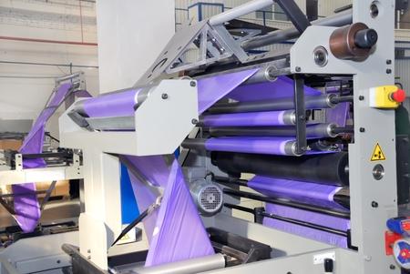 polymerization: part of the machine for the production of polyethylene (low density polyethylene )