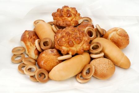bread (patty, pie, cakes) baking in antiburning parchment Reklamní fotografie
