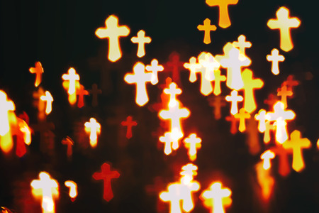 christianity: faith Christianity crosses abstract blur background