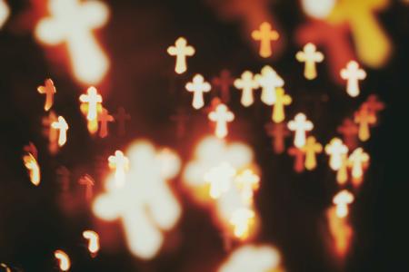 cristianismo: Cristianismo fe cruza resumen de antecedentes de desenfoque