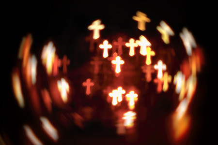 faith Christianity crosses abstract blur background