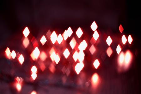 luminous rhombus flying in darkness abstract blur background Reklamní fotografie