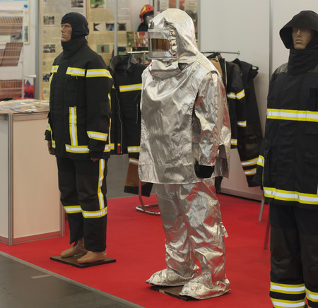 firefighter working clothes (protection from fire uniform) Reklamní fotografie