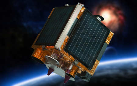 remote, sensing of the earth (satellite in space)