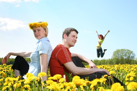 young friends having fun outdoors Stock Photo - 4022699