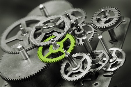 engineering concept: gears Stock Photo