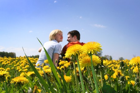 happy couple outdoors Stock Photo - 4080770