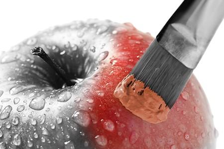 Apple in der Farbe rot Lizenzfreie Bilder