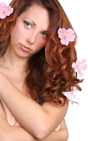 beautiful young longhaired girl  photo