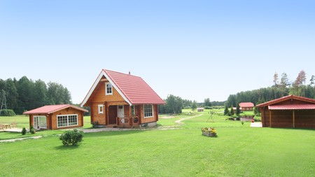cute comfortable summer cottage Stock Photo - 4186464