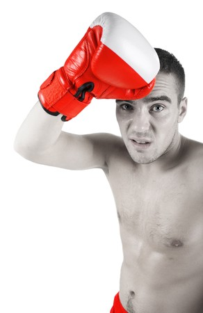 forearms: portrait of washed up boxer