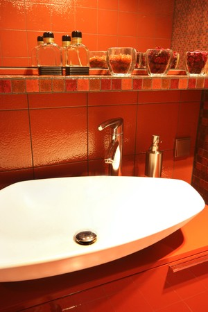 red toilet photo