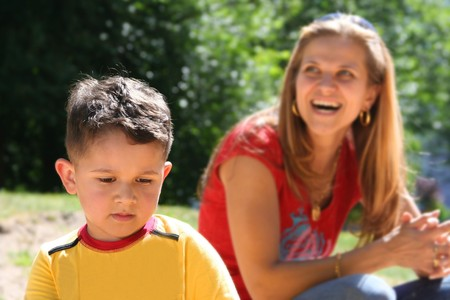 happy mother with charming son Stock Photo - 4365573