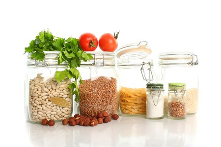 constituent: fresh healthy food isolated on white Stock Photo