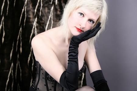beautiful blond girl photo