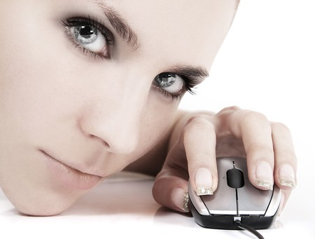 cyber girl Stock Photo
