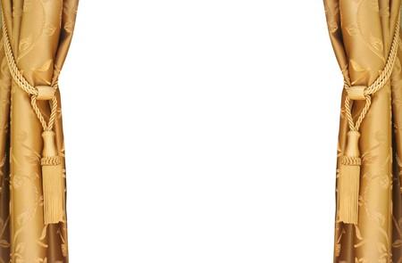 curtain design: tende di seta d'oro