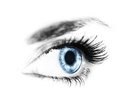 close-up woman's eye (shallow DoF) Stock Photo