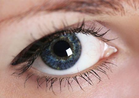 close-up of woman's eye (shallow DoF) Stock Photo