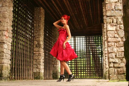 welldressed: welldressed redhead in antique building