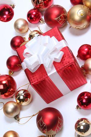 red christmas present photo
