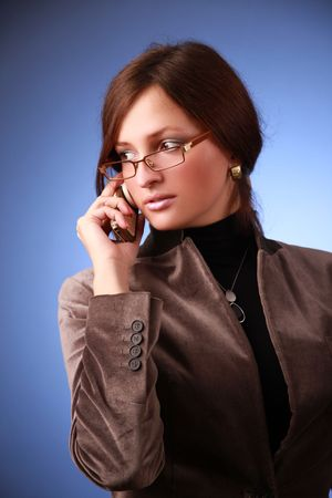 elegant young bussiness woman calling Stock Photo - 5714555