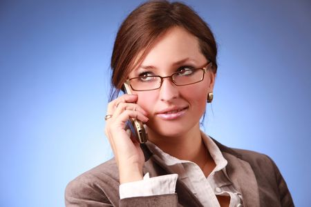 elegant young bussiness woman calling Stock Photo - 5714587