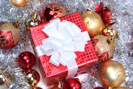 red christmas present Stock Photo - 5714580