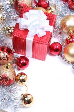 background with red christmas present Stock Photo - 5852493