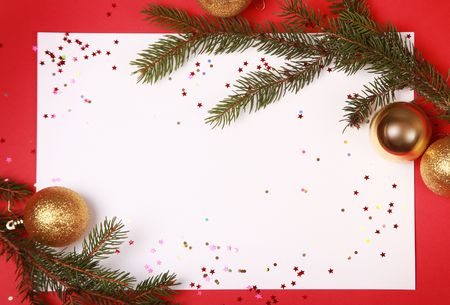 bright background with christmas tree Stock Photo - 5852334