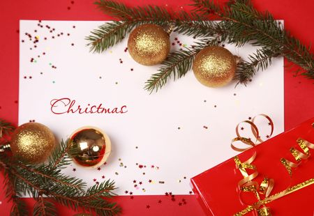 bright background with christmas tree Stock Photo - 5852494