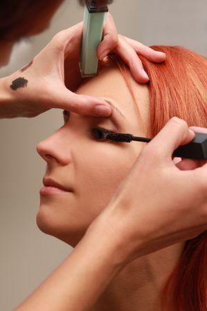 beautiful young woman in beauty-salon Stock Photo