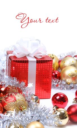 background with red christmas present Stock Photo - 5852346
