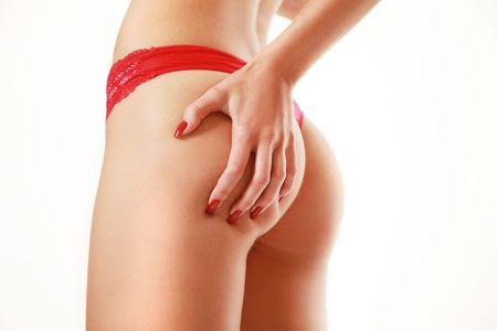 Slim sexy Back isolated on white  Lizenzfreie Bilder
