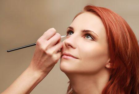 salon de belleza: joven y bella mujer en Sal�n de belleza