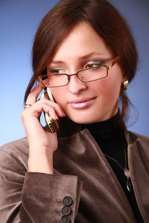 elegant young bussiness woman calling phone Stock Photo - 5933571