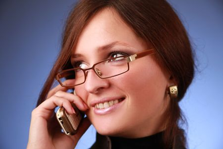 elegant young bussiness woman calling phone Stock Photo - 5933573