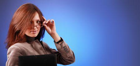 beautiful business-woman with organizer Stock Photo - 5933579