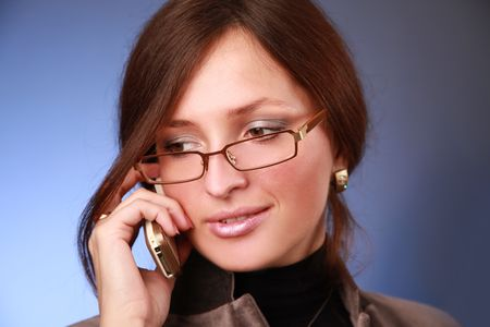 elegant young bussiness woman calling phone Stock Photo - 5933574