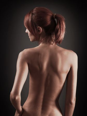 sexy young woman in the dark Stock Photo