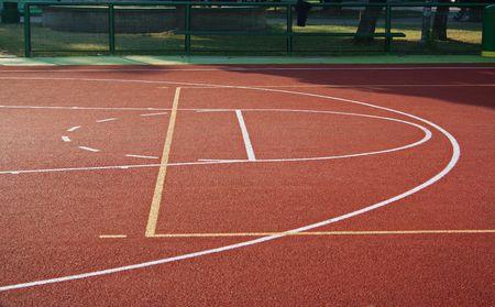 basket ball: Terain baloncesto, una de las partes.